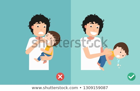 Baby Asthma Illustration Stock photo © lenm