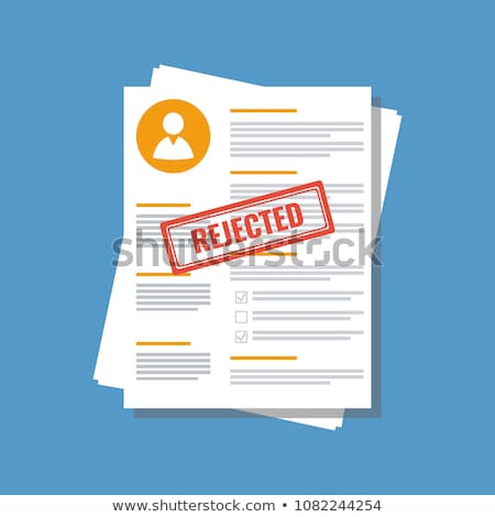 Declined Stamp And Application Form Stock photo © albund