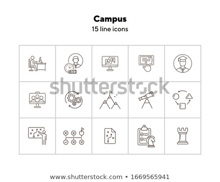 College campus concept vector illustration Stock photo © RAStudio