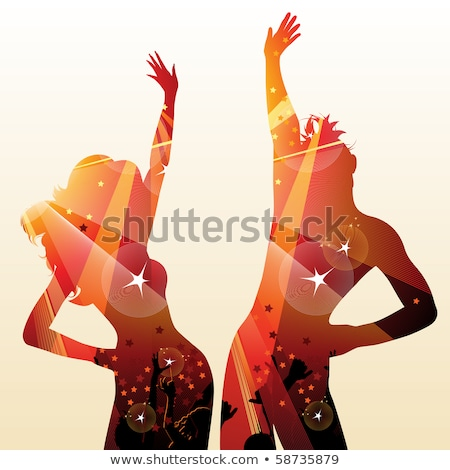 Dancers Moving in Pair, Couple Dancing Vector Stock photo © robuart