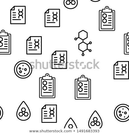 negro · vector · iconos · microbiología · establecer · silueta - foto stock © pikepicture