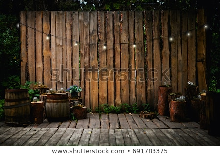 Foto d'archivio: Light Bulb Decor At Wall In Outdoor Party