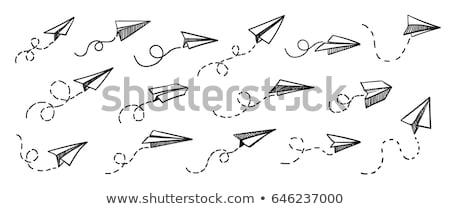 paper plane conceptual illustration and vector set Stock photo © bspsupanut