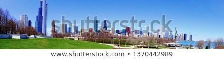 Foto stock: Chicago · sul · panorama · edifício · centro · da · cidade