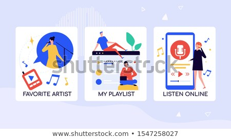 Music fans leisure time vector banner template Stock photo © Decorwithme