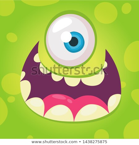 green monster face stock photo © lightsource