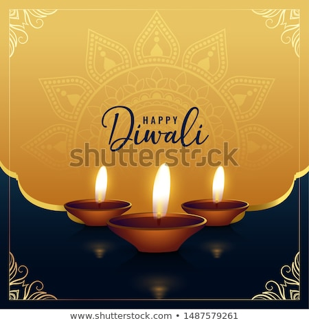 happy diwali occasion festival card design background stock photo © sarts