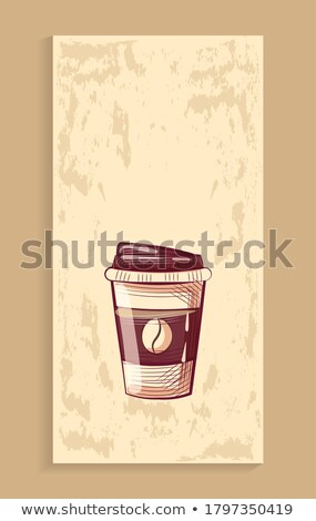 Coffeeshop Poster, Disposable Mug with Lid, Coffee Stock photo © robuart