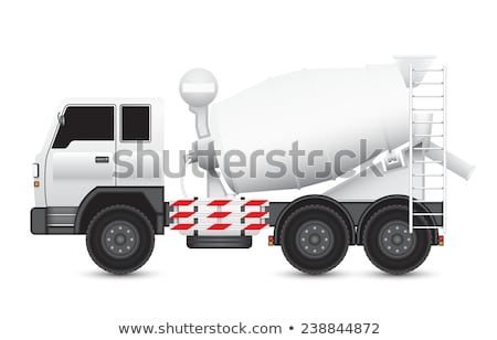 Cement Mixer and Truck Transporting Goods Vector Stock photo © robuart