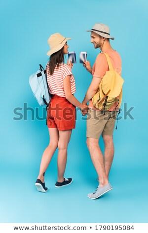 Feliz mulher dois negócio mão Foto stock © AndreyPopov
