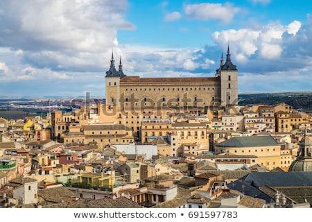 Spanyolország kő erődítmény épület város tájkép Stock fotó © borisb17