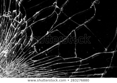 uszkodzony · stłuczone · szkło · czarny · 3D · 3d · ilustracji - zdjęcia stock © galitskaya