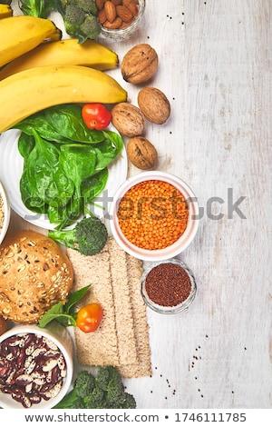 Set of high dietary fibre health food product concept  stock photo © Illia