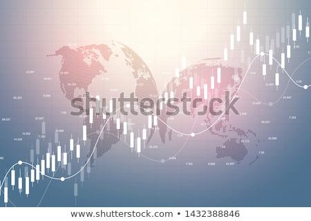 Blauw · abstract · versnellingen · vector · moderne · ontwerp - stockfoto © rastudio