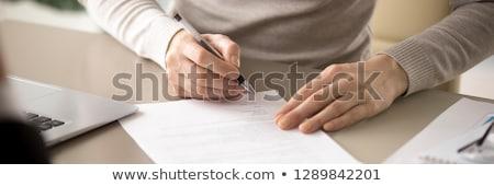Fizetés szalag fejléc pénz kölcsön szerződés Stock fotó © RAStudio