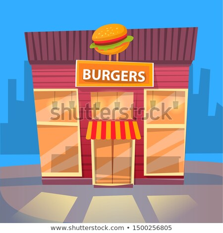 Burger Eatery in City, Fast Food Exterior Building Stock photo © robuart