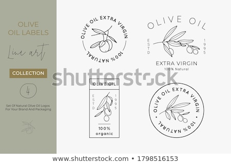 Vector olive oil label wreath of branches Stock photo © blumer1979