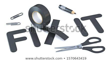 Slogan FIX IT with black duct tape 3D Stock photo © djmilic