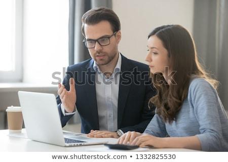 Affaires Consulting coach étudiant pc homme Photo stock © robuart
