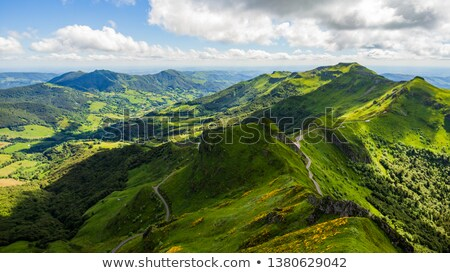 Volcanic mountains from Puy Mary Stock photo © tilo
