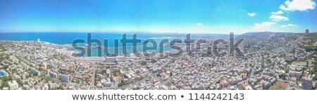 Kilátás tengerpart Izrael tengerpart tenger kék Stock fotó © dariazu
