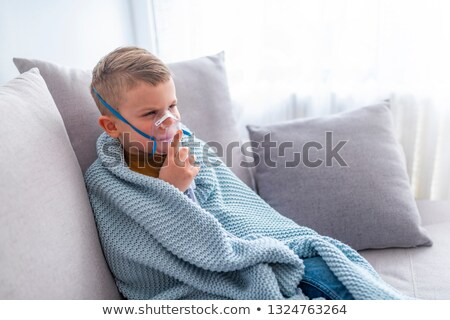 астма проблема мальчика подростков студию белый Сток-фото © Lopolo