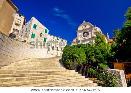 Praça Croácia histórico centro parede verão Foto stock © borisb17