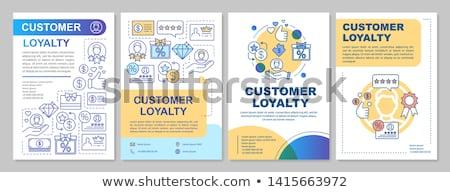Loyalität Programm Typografie Banner line Stock foto © -TAlex-