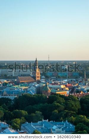 Tarihsel Riga Letonya Cityscape Stok fotoğraf © artjazz