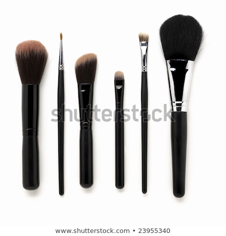 Some different kind of make-up brushes isolated on white Stock photo © Melnyk