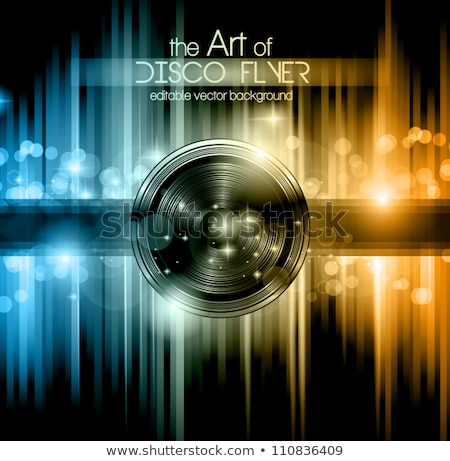 music flyer poster with colorful speaker design Stock photo © SArts