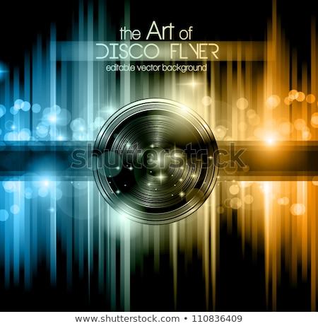 Muziek flyer poster kleurrijk spreker ontwerp Stockfoto © SArts