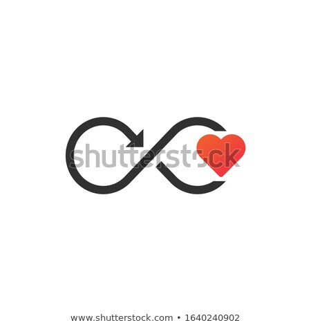 Oneindigheid teken hart beweging pijl moderne Stockfoto © kyryloff