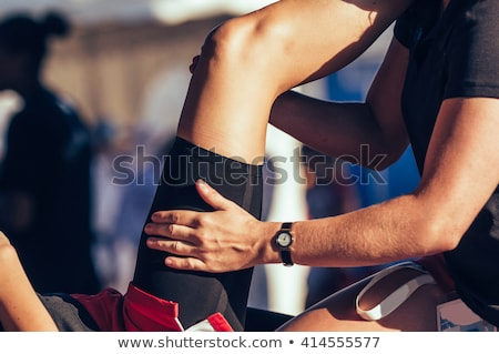 Man Touching Woman's Thigh Stock photo © AndreyPopov