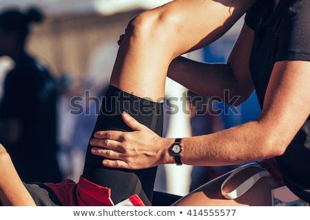 человека прикасаться бедро таблице служба бизнеса Сток-фото © AndreyPopov