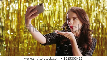 menina · rosto · bonita · quem · câmera · sorriso - foto stock © pressmaster