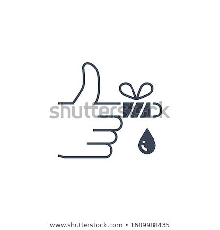 Ferido dedo vetor ícone isolado branco Foto stock © smoki