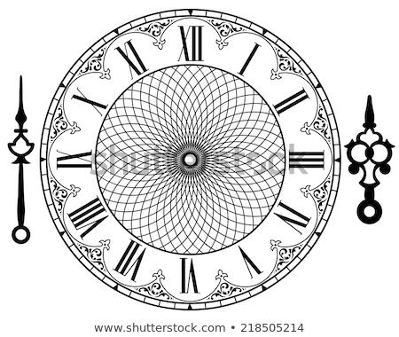 Time concept - vintage clock face stock photo © inxti