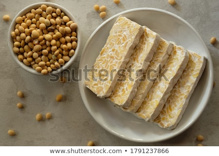 Tempeh Fermented Food of Soybeans Asian Dishes Stock photo © robuart