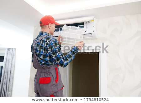 Air Conditioning Inspection Maintenance And Repair Stock photo © AndreyPopov