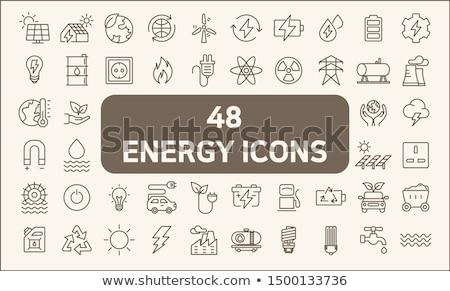 power generation icon set Stock photo © ayaxmr