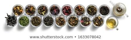 Nagy válogatás tea fehér kilátás felső Stock fotó © butenkow