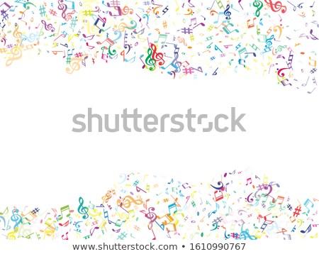 musical · muziek · boek · achtergrond · piano · zwarte - stockfoto © ansonstock