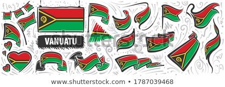 Vetor conjunto bandeira Vanuatu criador Foto stock © butenkow