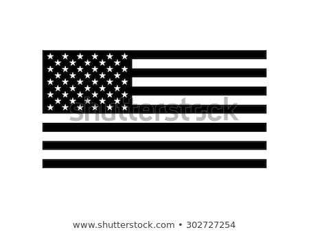 Fekete USA zászló fejléc eps 10 Stock fotó © limbi007