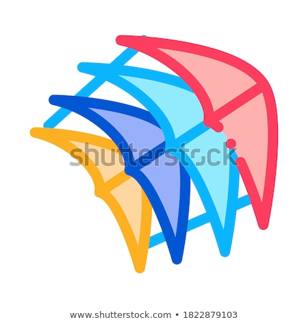 few pieces of kite icon vector outline illustration Stock photo © pikepicture