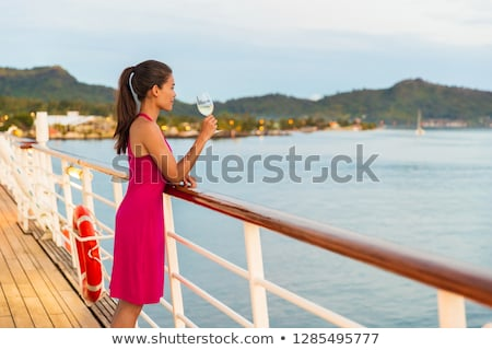 Luxury travel cruise ship elegant Asian woma Stock photo © Maridav