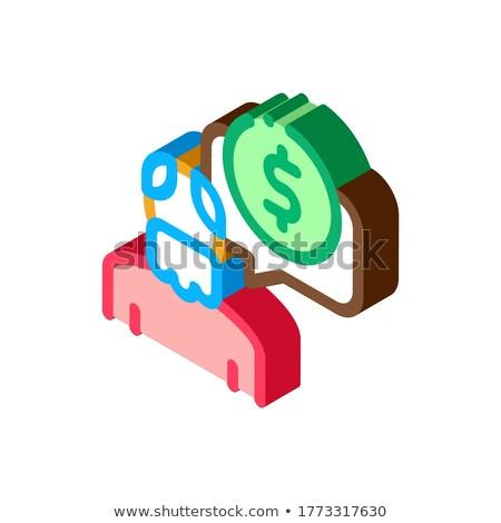 Holunder Mann Münze Symbol Vektor Stock foto © pikepicture