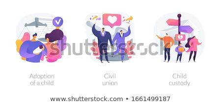 Burgerlijk unie abstract seks Stockfoto © RAStudio