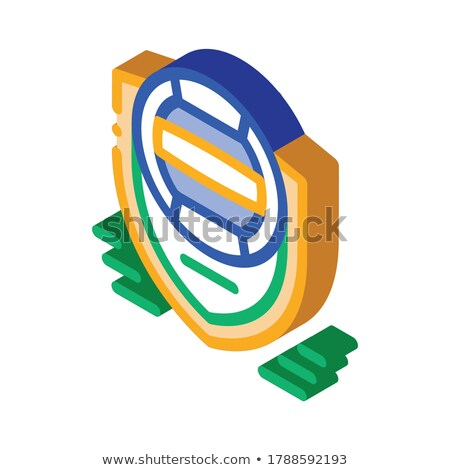 Volleyball Team Emblem isometric icon vector illustration Stock photo © pikepicture